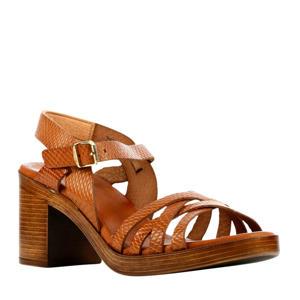79254  leren sandalettes cognac
