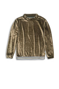 DJ Dutchjeans sweater met glitters goud/wit/donkerblauw, Goud/wit/donkerblauw