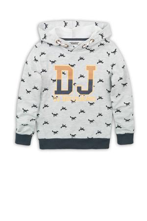 hoodie met all over print grijs melange