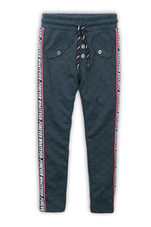 geruite broek met zijstreep antraciet/rood/zwart
