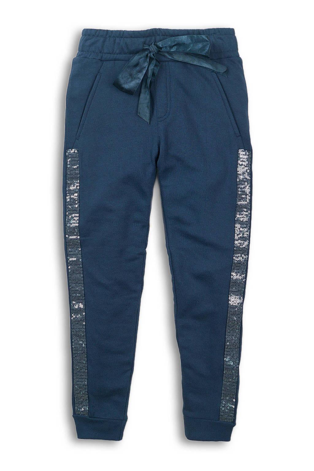 DJ Dutchjeans sweatpants met pailletten donkerblauw, Donkerblauw