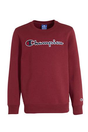 sweater met logo donkerrood