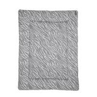Meyco boxkleed 77x97 cm zebra grijs, Grijs