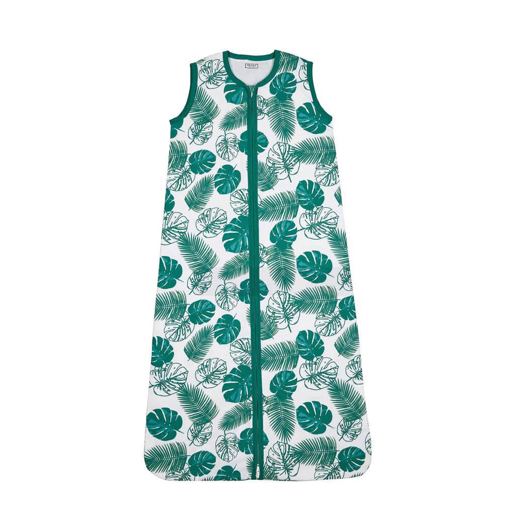 Meyco baby slaapzak zomer tropical leaves, Emerald Green