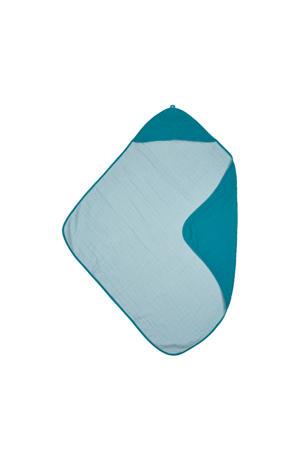 hydrofiele badcape petrol/sea blue