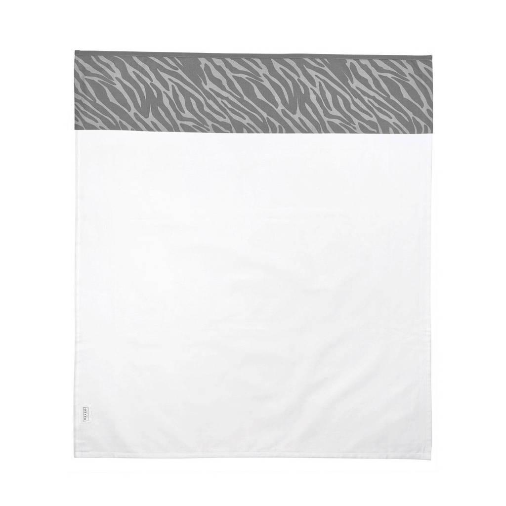 Meyco baby ledikantlaken 100x150 cm zebra grijs, Grijs