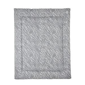 boxkleed zebra grijs