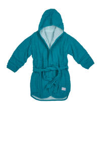 Meyco   hydrofiele badjas maat 86/92 petrol/sea blue, Petrol/sea blue