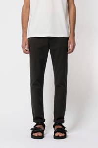 Nudie Jeans regular fit chino Easy Alvin met biologisch katoen zwart, Zwart