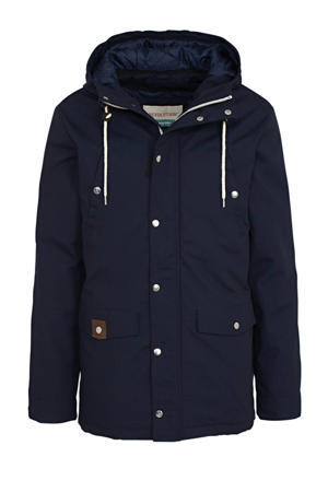 parka jas donkerblauw