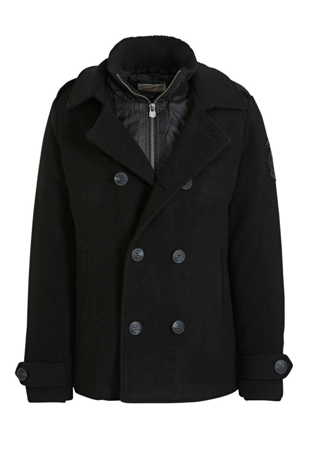Petrol Industries jack met wol zwart, Zwart