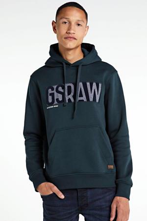 hoodie met logo petrol