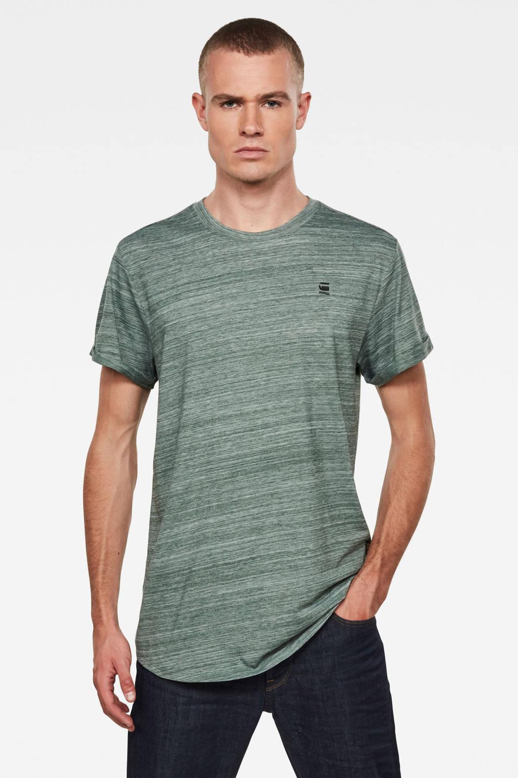 G-Star RAW gemêleerd T-shirt groen, Groen