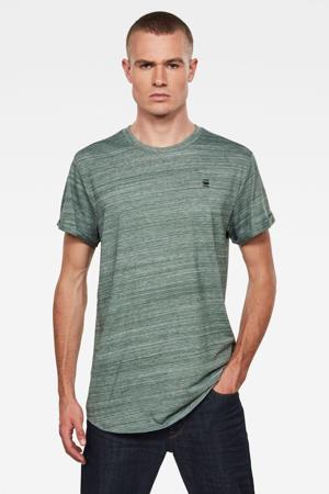 gemêleerd T-shirt groen