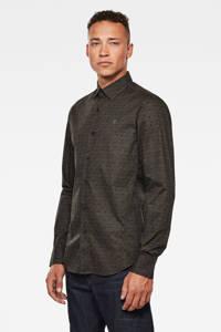 G-Star RAW slim fit overhemd met all over print olijfgroen, Olijfgroen