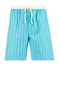 America Today gestreepte pyjamashort Lake lichtblauw, Lichtblauw