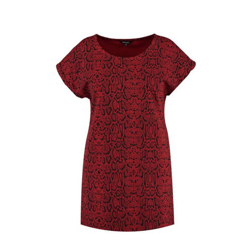 MS Mode T-shirt met all over print rood