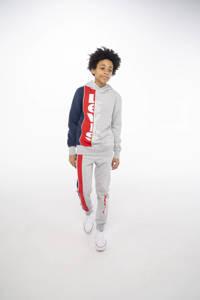 Levi's Kids joggingbroek met logo grijs melange/rood/donkerblauw, Grijs melange/rood/donkerblauw