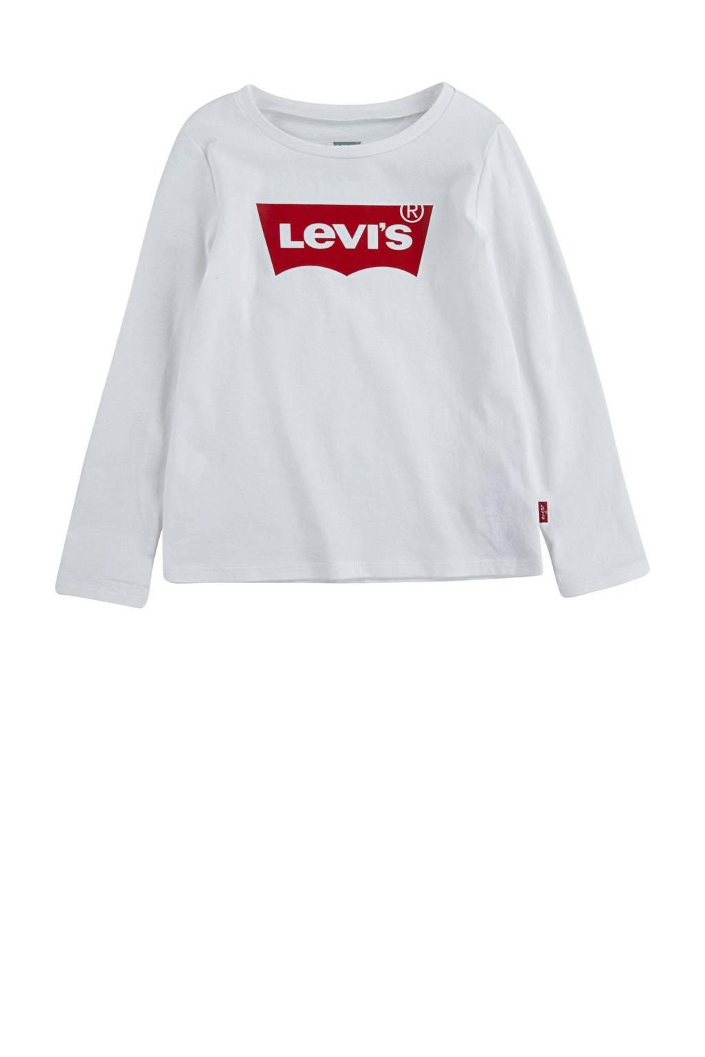 Levi's Kids longsleeve Batwing met logo wit, Wit