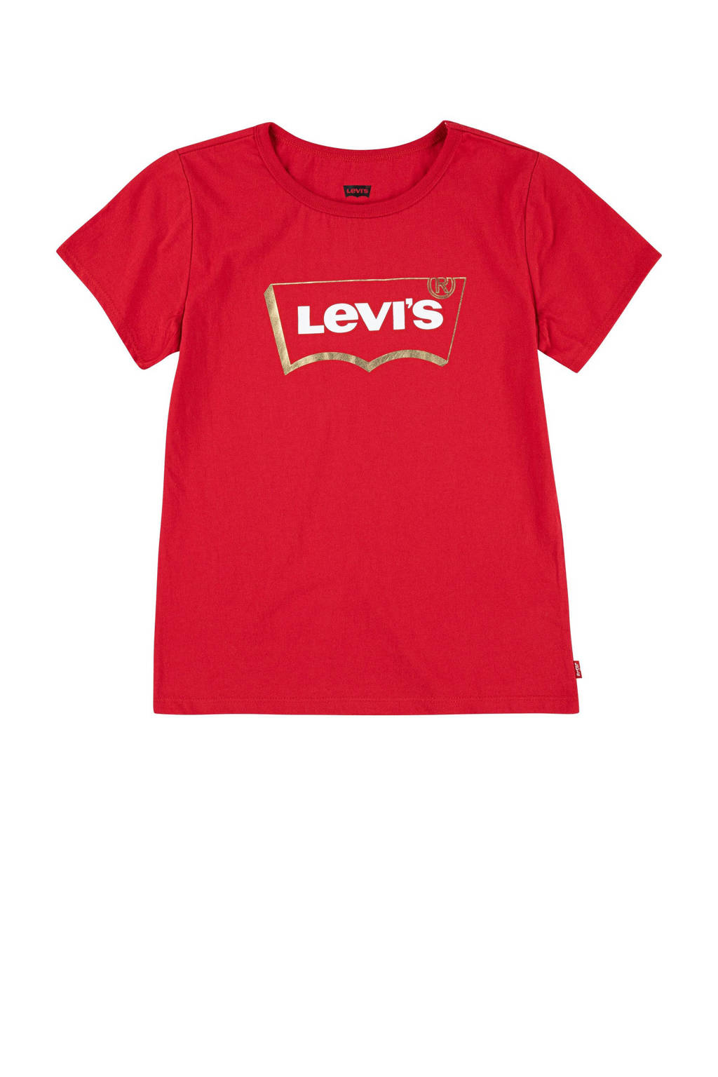 Levi's Kids T-shirt Graphic met logo rood, Rood