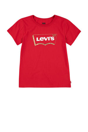 Levi's Kids T-shirt Graphic met logo rood