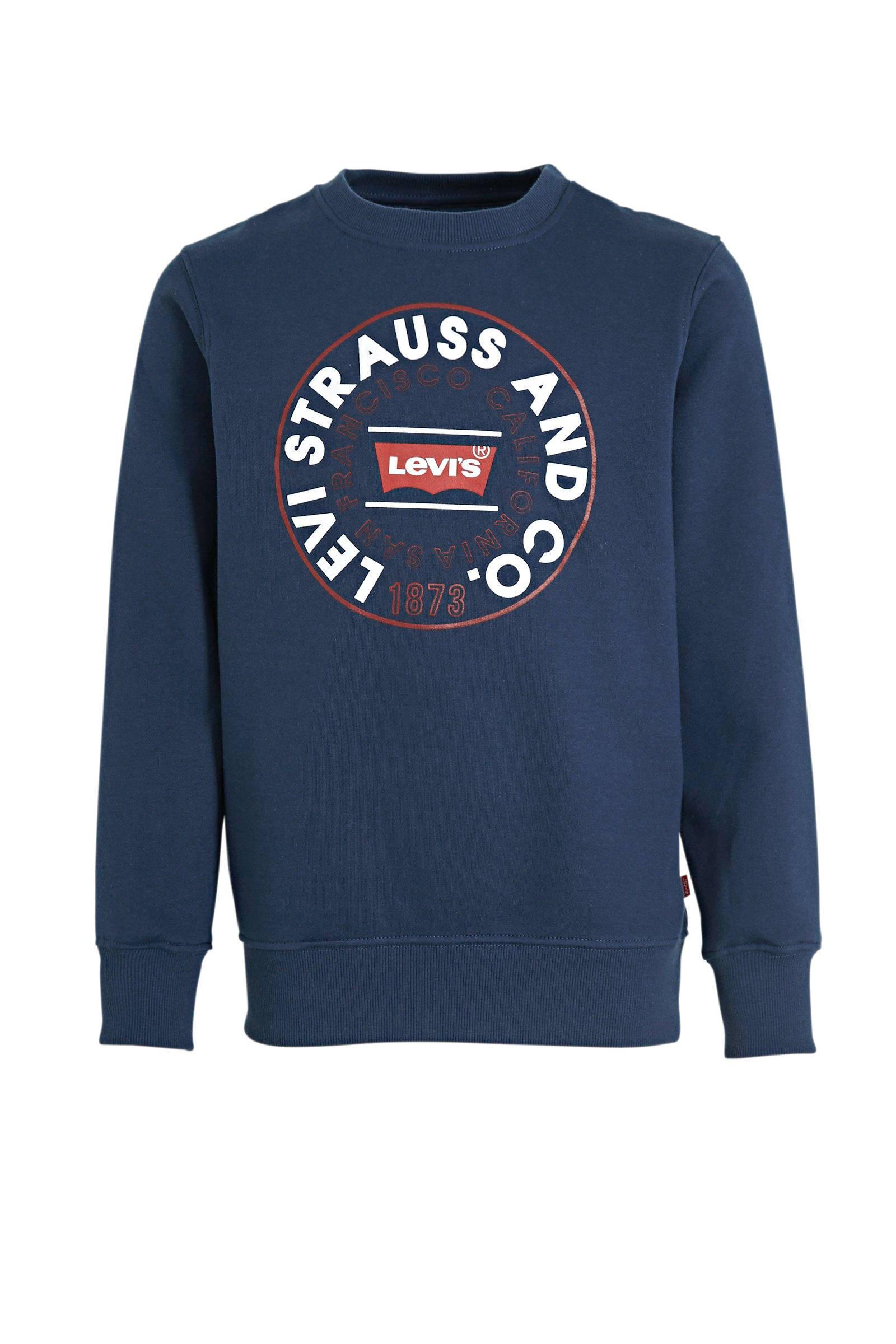 Levi's kids Levi's Kids sweater met logo donkerblauw   wehkamp