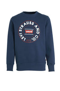 Levi's Kids sweater met logo donkerblauw, Donkerblauw