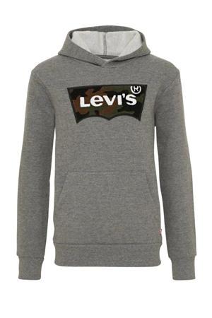 Levi's Kids hoodie Batwing met logo antraciet melange