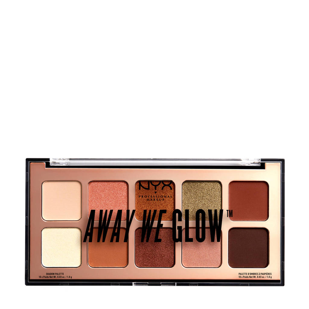 NYX Professional Makeup Away We Glow Shadow Palette - Hooked On Glow AWGSP02