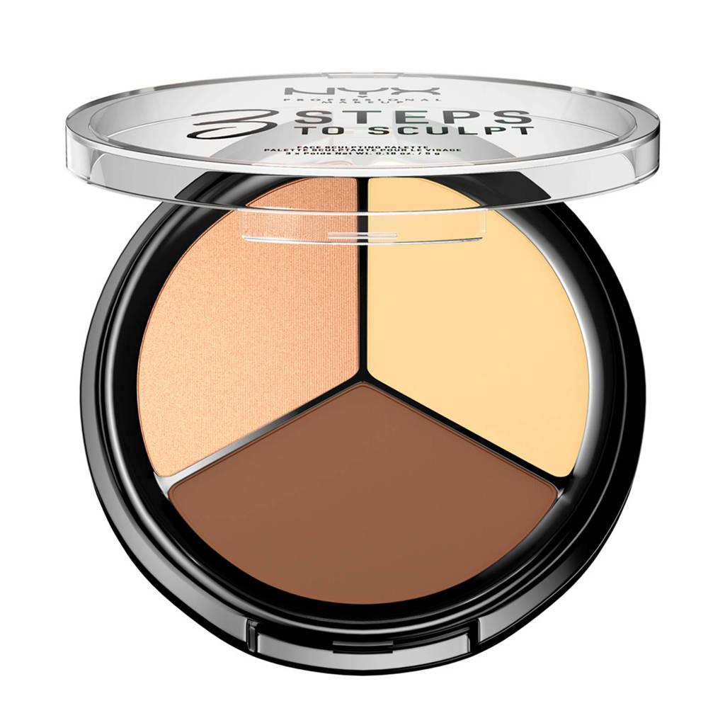 NYX Professional Makeup 3 Steps To Sculpt Palette contourer - Light 3STS02