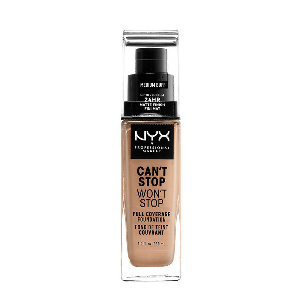 NYX Professional Makeup Can't Stop Won't Stop Full Coverage Foundation - Medium Buff CSWSF10.5