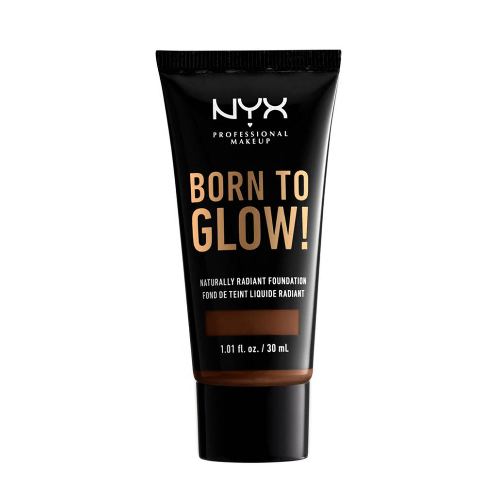 NYX Professional Makeup Born To Glow! Naturally Radiant Foundation - Deep Walnut BTGRF22.7