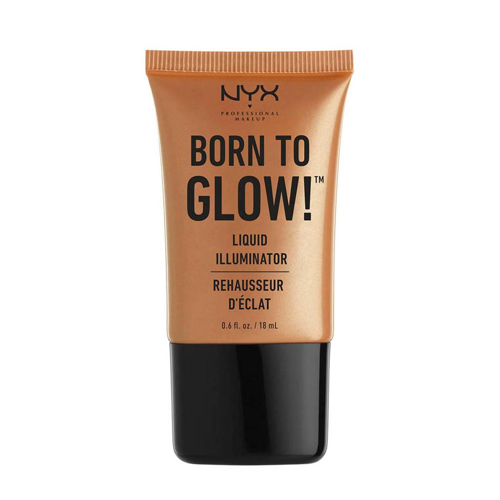 NYX Professional Makeup Born To Glow Liquid Illuminator - Pure Gold LI03