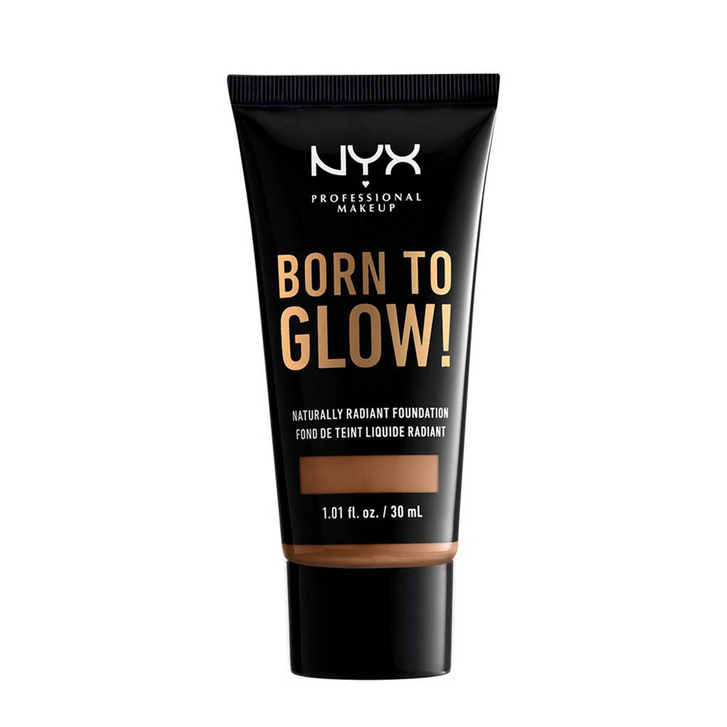 NYX Professional Makeup Born To Glow! Naturally Radiant Foundation - Mahogany BTGRF16