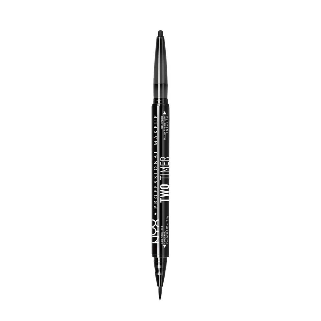 NYX Professional Makeup Collection Noir Two Timer Dual Ended eyeliner - Jet Black TT01