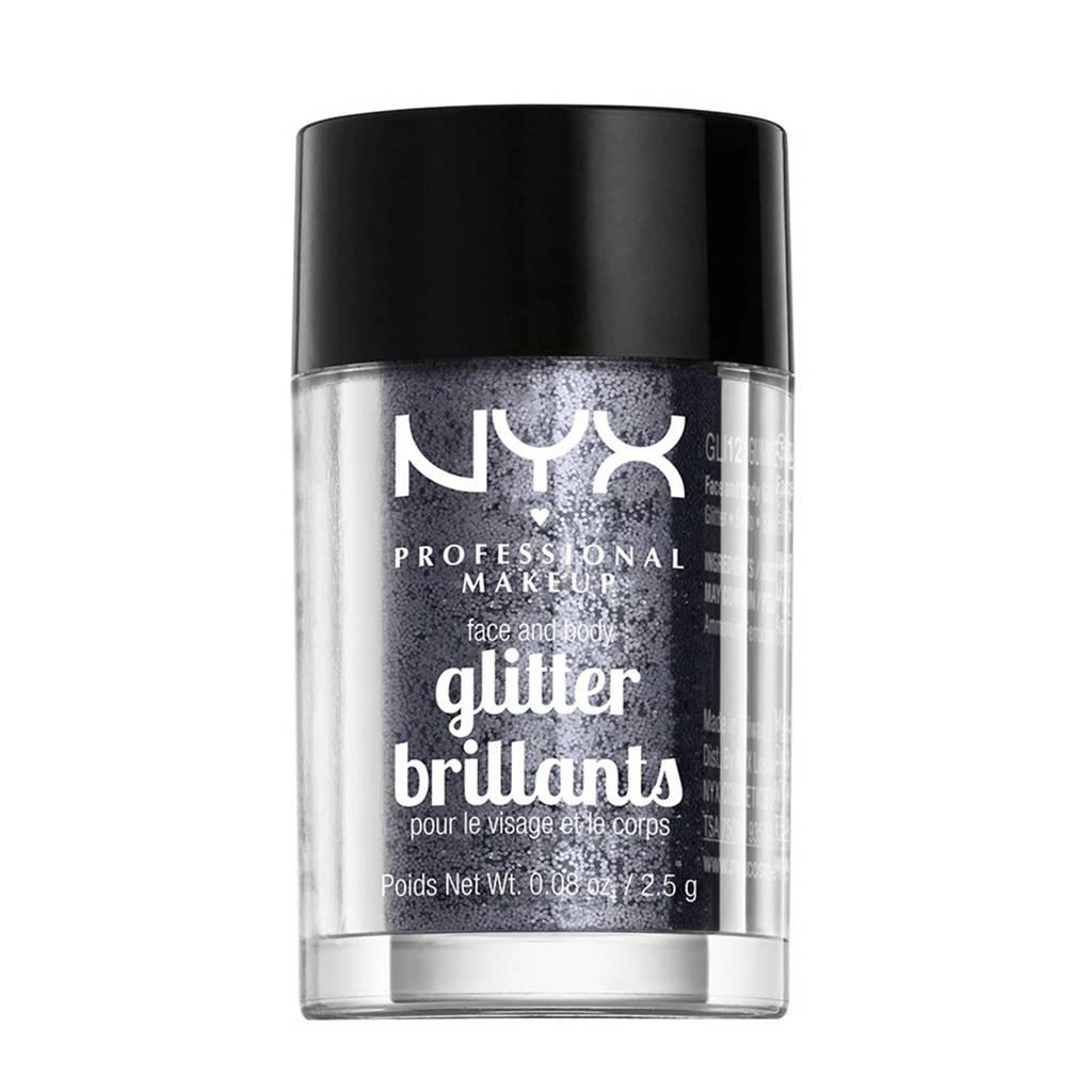 NYX Professional Makeup Brillants Oog en Lichaamsglitter - Gunmetal, gunmetal