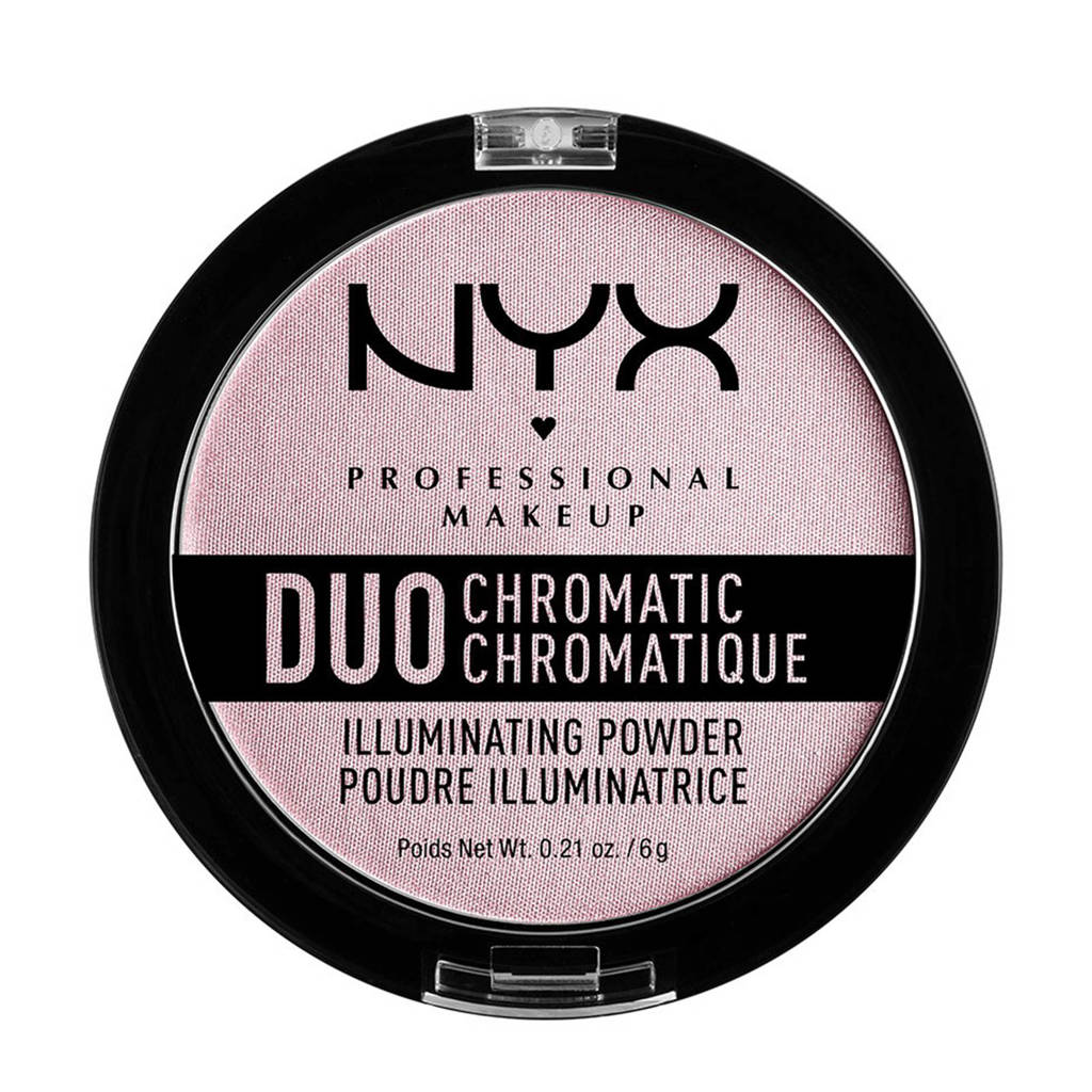 NYX Professional Makeup Duo Chromatic Illuminating Powder highlighter - Lavender Steel DCIP02