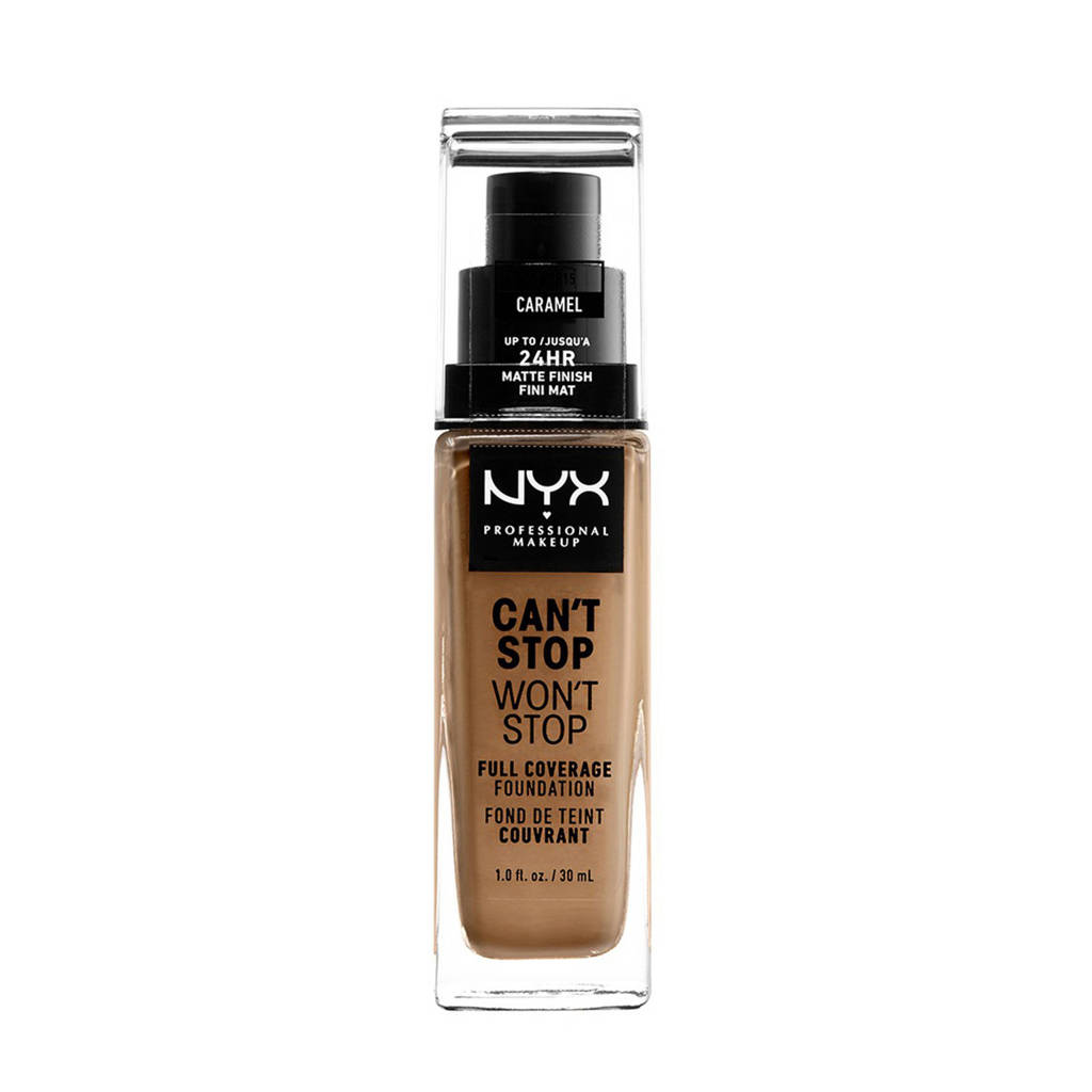 NYX Professional Makeup Can't Stop Won't Stop Full Coverage foundation - Caramel CSWSF15