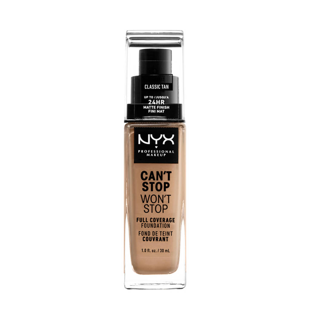 NYX Professional Makeup Can't Stop Won't Stop Full Coverage foundation - Classic Tan CSWSF12
