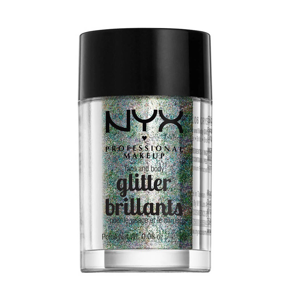 NYX Professional Makeup Billants Face & Body glitter - Crystal, crystal