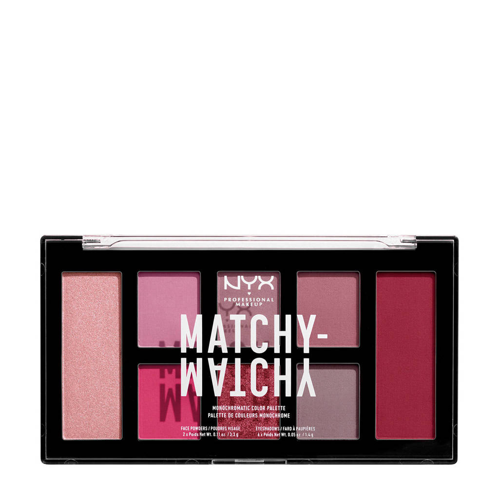 NYX Professional Makeup  Matchy-Matchy Monochromatic oogschaduw palette - Berry Mauve MMMCP05