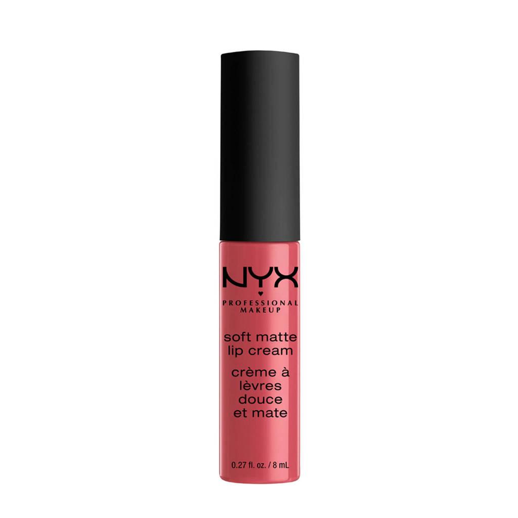 NYX Professional Makeup Soft Matte lippenstift - San Paulo SMLC08, Soft Matte Lip Cream San Paulo SMLC08
