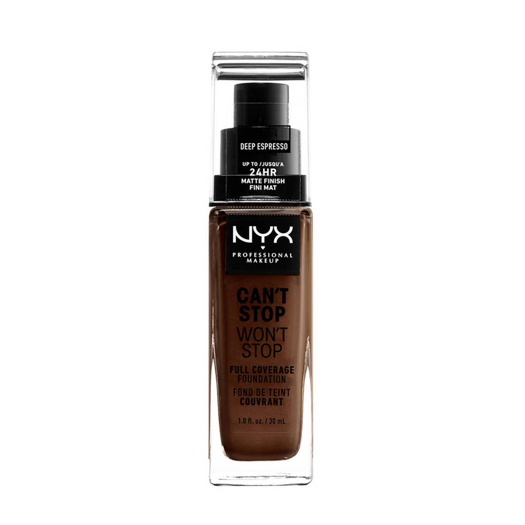 NYX Professional Makeup Can't Stop Won't Stop Full Coverage foundation - Deep Espresso CSWSF24