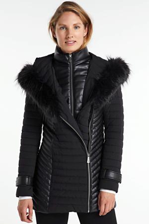 gewatteerde jas New Oxana zwart