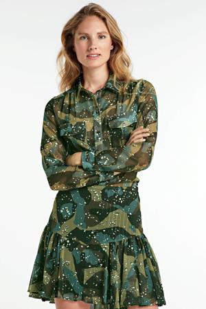 blouse Eirene met all over print groen