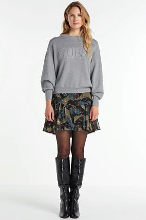 sweater Tara met logo grijs