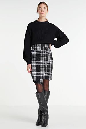 geruite rok Mahida zwart/wit