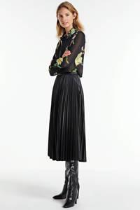 GUESS gebloemde blouse Clouis zwart/groen/roze, Zwart/groen/roze