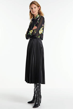 gebloemde blouse Clouis zwart/groen/roze