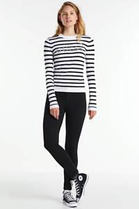 GUESS gestreepte trui Zoe wit/zwart, Wit/zwart